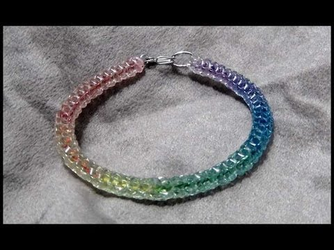 �The Crystal Hippie Bracelet - Craft Tutorial 16 (Original Rainbow Boondoggle)