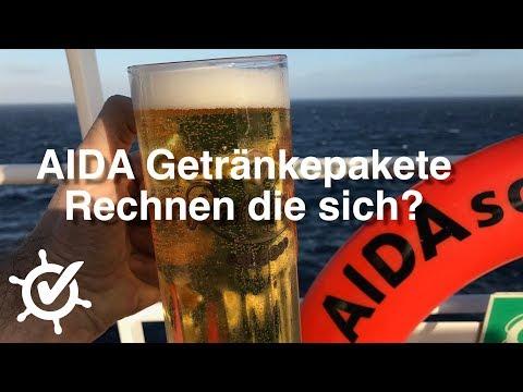 AIDA Getränkepakete 2018 - Rechnen die sich? Reisen 2018/2019 ⚓️