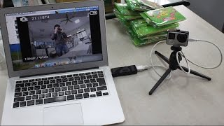 GoPro Hero4 as USB uvc webcam for MAC SKYPE,  Google hangouts, livestream, OBS