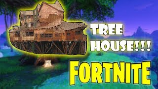 WORLD'S BIGGEST FORTNITE TREE HOUSE!