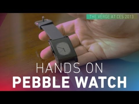 Pebble smartwatch hands-on video