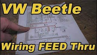Classic VW BuGs How to Feed New Wiring Harness through a Beetle