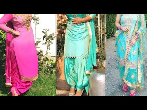 Beautiful salwar suit kdaai designs//Patiala salwar suit
