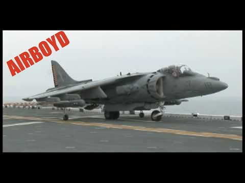 AV-8B Harrier II's Landing And Takeoff USS Kearsarge (LHD 3)