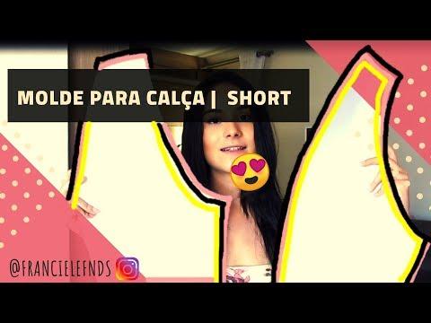 MOLDE FÁCIL shorts calça | Customização Franciele Fernandes