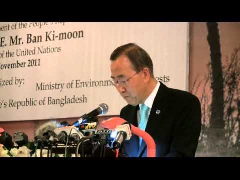 Ban Ki-Moon at the Climate Vulnerable Forum