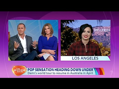 Demi Lovato Interview on The Morning Show - 4th March 2015
