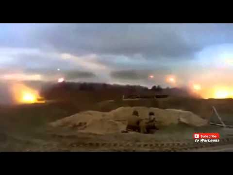 Syria 2014   Massive Extreme Rocket Barrage On Free Syrian Army Positions By Hezbollah
