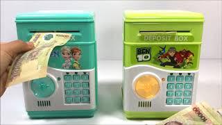 Đồ chơi KÉT SẮT MINI RÚT TIỀN THÔNG MINH - ATM Machine Toys For Kids (Thỏ Trắng)