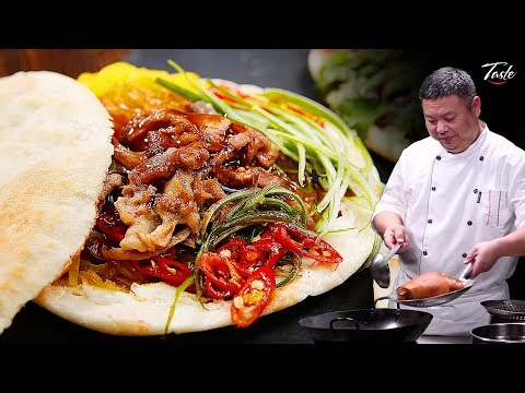 Chef's Favorite Chinese Hamburger - Street Food Recipe • Taste The Chinese Recipes Show