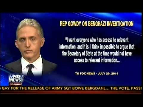 Rep Trey Gowdy Gives Fox News Exclusive Details On Benghazi Investigation   The Kelly File