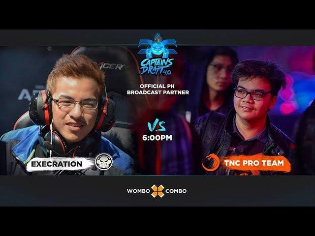 Execration vs TNC Game 1 (BO3) | Captains Draft 4.0