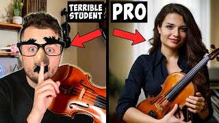 I Hired PRO Violin Teachers and Pretended to be the WORST Student Ever...