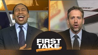 Stephen A. laughs at Max's take, goes on rant about LeBron James' greatness   First Take   ESPN