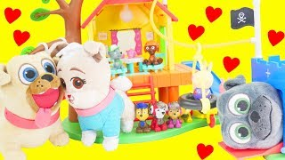 Puppy Dog Pals Keia Visit Peppa Pig House Vet Crate Playset for Kids!