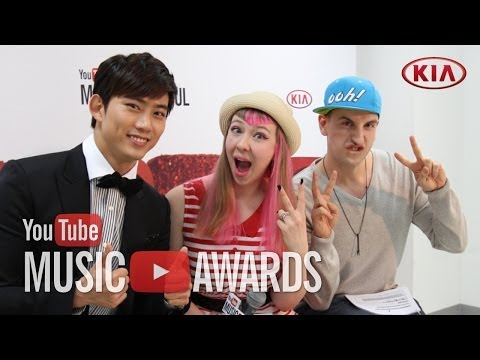 Backstage at the YTMA with Taecyeon, Kris, Miss A, and SHINee