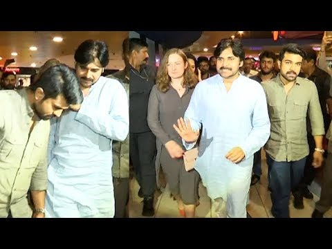 Pawan Kalyan Watched Rangasthalam Movie With His Family Members | Ram Charan