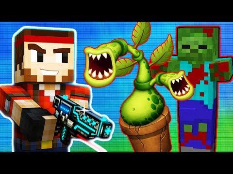 Видео для детей #3 про ПИКСЕЛЬНЫЙ БЕСПРЕДЕЛ Майнкрафт героев игра как мультик про монстров