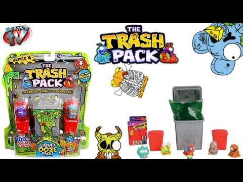 The Trash Pack Series 4 Liquid Ooze Pack Toy Review. Moose