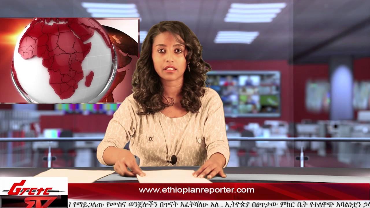 ETHIOPIAN REPORTER TV |  Amharic News 01/05/2016