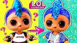 Мария В ШОКЕ! ПАНКИ стал ГЛИТЕРНЫЙ! Трансформация куклы лол сюрприз! Мультик LOL dolls