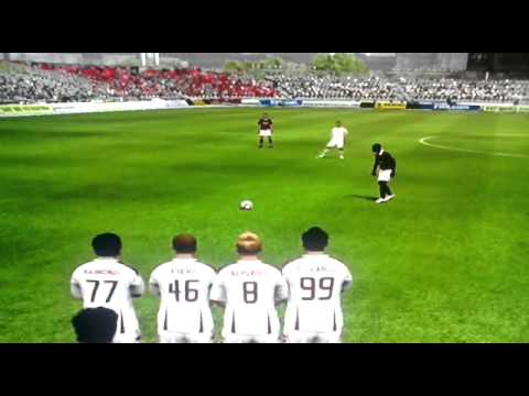 Ps3 Fifa10 Seedorf free kick goal with A.C.Milan
