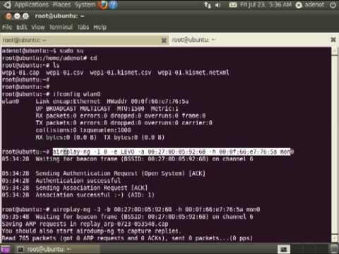 Quebrando chave WEP com Ubuntu e aircrack-ng