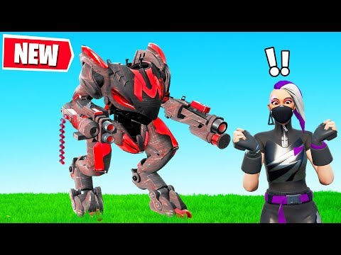 FORTNITE MECH vs NEW Map! (Season X Battlepass)