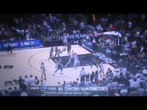 Memphis Grizzlies Vs San Antonio Spurs - Full 4th Quarter Part 4 Game 1 - NBA Playoffs 2013 5/19/13