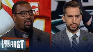 Nick Wright shuts down the Carson Wentz vs. Patrick Mahomes comparison | NFL | FIRST THINGS FIRST