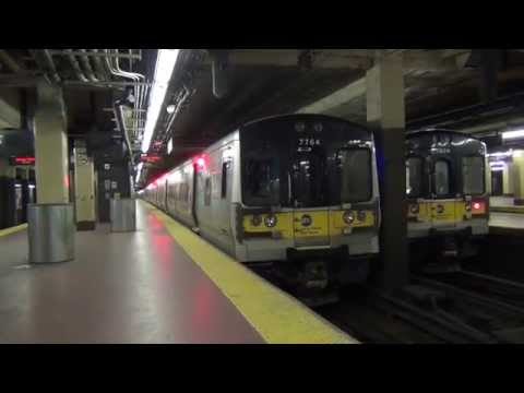 MTA Long Island Rail Road - Bombardier M7 #7764 departing Penn Station