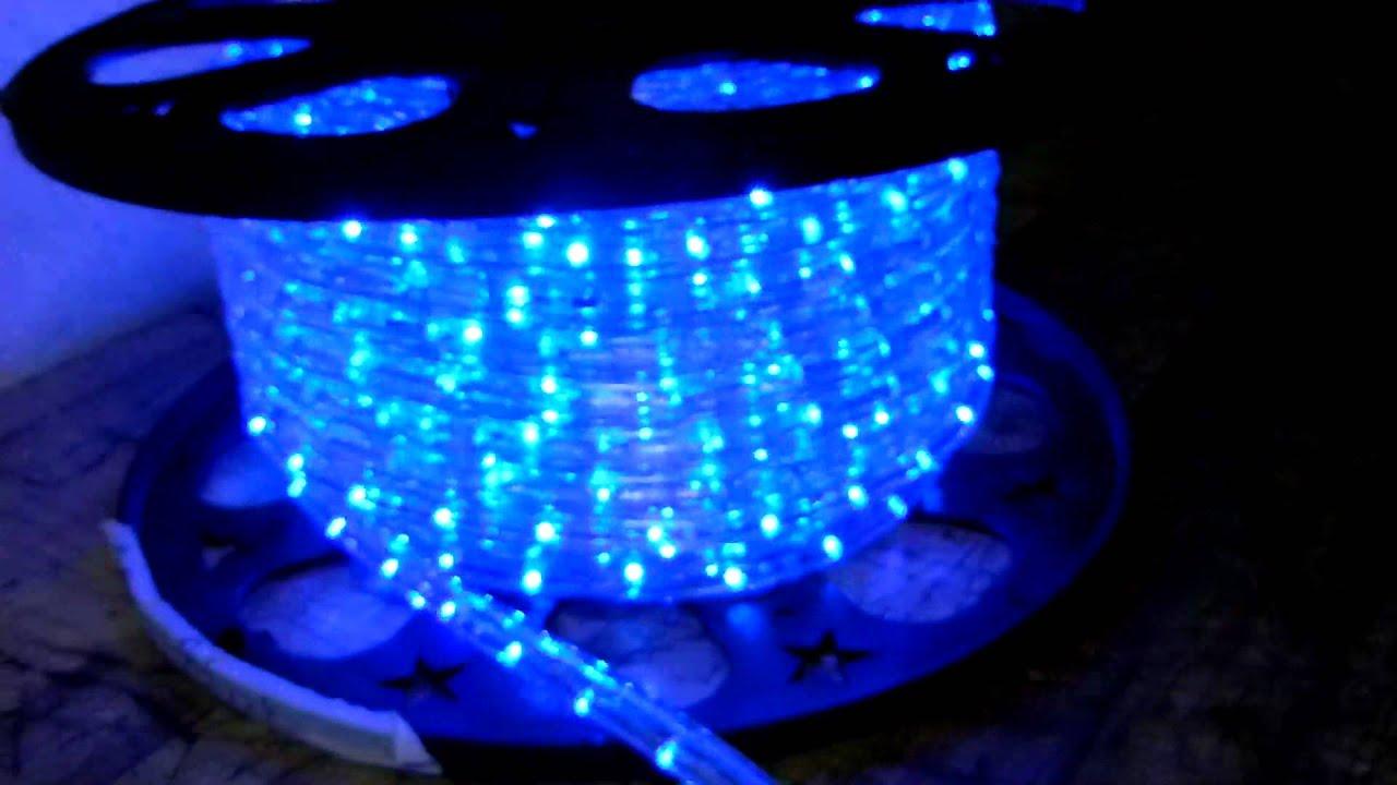power cord w dimmer for 2 wire 110v 120v led rope lights youtube. Black Bedroom Furniture Sets. Home Design Ideas