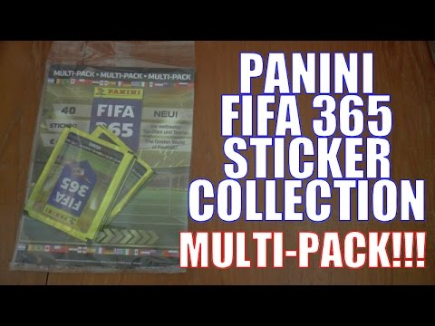 UK PREMIERE! ⚽️ MULTI-PACK OPENING ⚽️ Panini FIFA 365 Official 2016 Sticker Collection