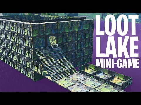 *BOUNCE* LAKE DERBY MINI-GAME!  - Fortnite: Battle Royale Playground (Nederlands)