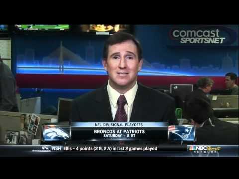 Brandon Spano on NBC Sports Talk before Pats/Broncos Playoff