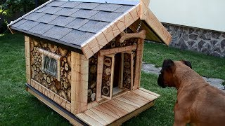 Mixed wood Dog House