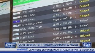 United Airlines lifts ground stop for domestic flights