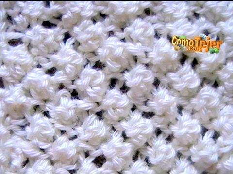 Cómo Tejer Punto Garbanzo Popcorn Stitch 2 Agujas (12)