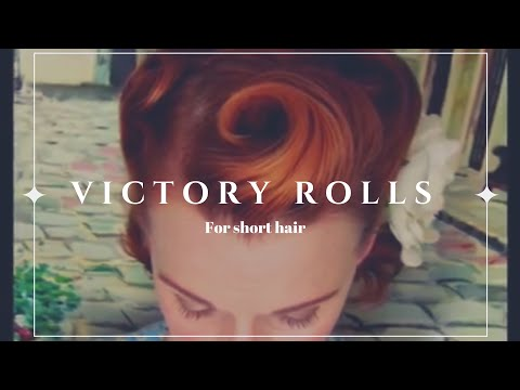 Victory Rolls on Short (Bobbed) Hair...1940