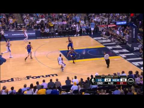NBA, playoff 2015, Warriors vs. Grizzlies, Round 2, Game 4, Move 26, Marc Gasol, 2 pointer