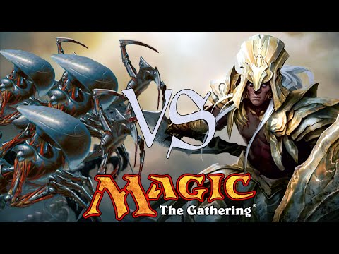 MtG Modern Gameplay - U/G Infect VS Metalcraft Combo
