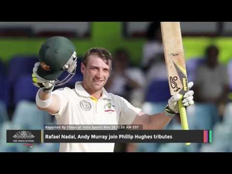 Rafael Nadal, Andy Murray Join Phillip Hughes Tributes