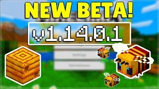 MCPE 1.14.0.1 BETA NEW BEE MOB! Minecraft Pocket Edition Bees & NEW Redstone Feature!