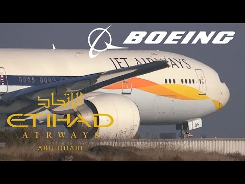 HD Jet Airways (Etihad Airways) 777-35R(ER) A6-JAF Takeoff from San Francisco International Airport