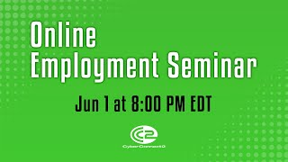 Online employment seminar by CyberConnect2 - Jun 1, 2020