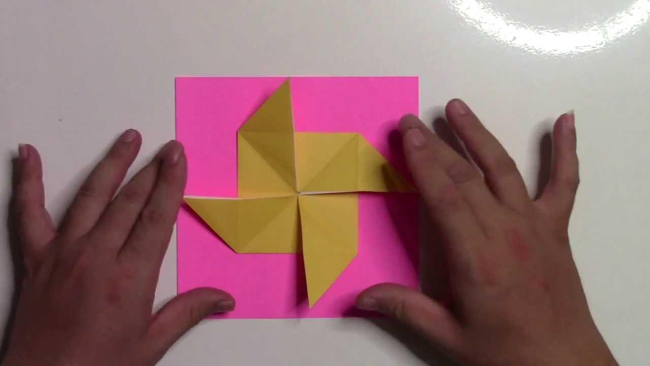すべての折り紙 折り紙 風車 作り方 : 折り紙 折り方】簡単な風車 ...
