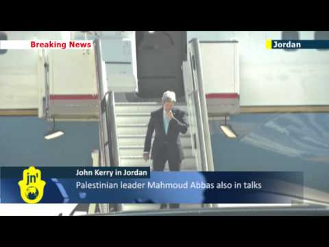US Secretary of State John Kerry arrives in Jordan for latest round of Middle East peace talks
