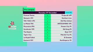 FIFA 19 Pro Clubs - SGFIFAVP League: Week 9 Fixtures