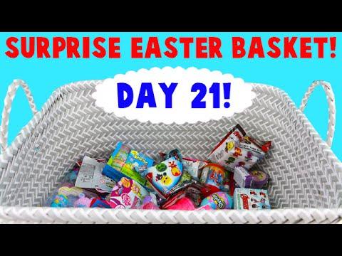 Surprise Easter Basket! Opening Blind Bag Toys! Day 21- Best Lip Balm!
