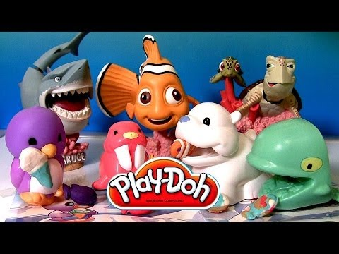 Play Doh Arctic Stampers Sea Animals set Fundamentals 2014 Finding Nemo Disneyplaydough Pixar